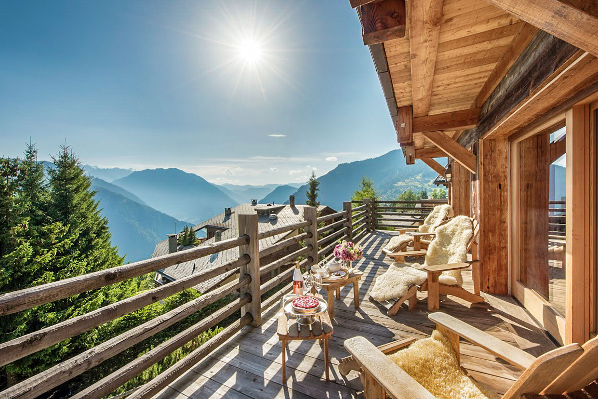 Proudly positioned in the heart of Verbier .